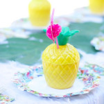 Guest tablescape from a Tropical Flamingo Themed Birthday Party via Kara's Party Ideas | KarasPartyIdeas.com - The Place for All Things Party! (1)