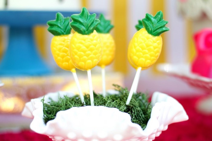 Pineapple pops from a Tropical Flamingo Themed Birthday Party via Kara's Party Ideas | KarasPartyIdeas.com - The Place for All Things Party! (28)