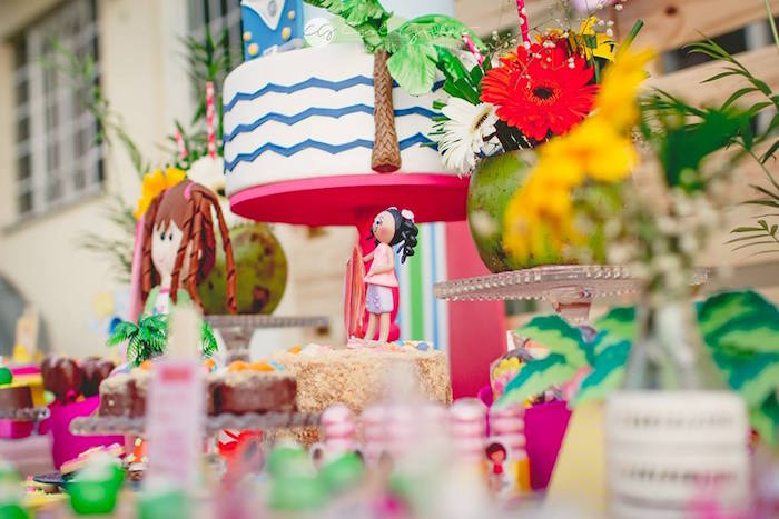 Dessert table details from a Tropical Surf Themed Birthday Party via Kara's Party Ideas | KarasPartyIdeas.com (37)