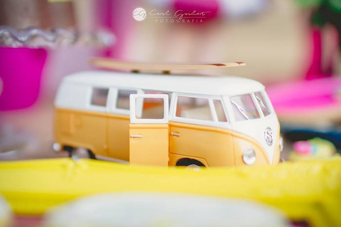 VW decoration from a Tropical Surf Themed Birthday Party via Kara's Party Ideas | KarasPartyIdeas.com (33)