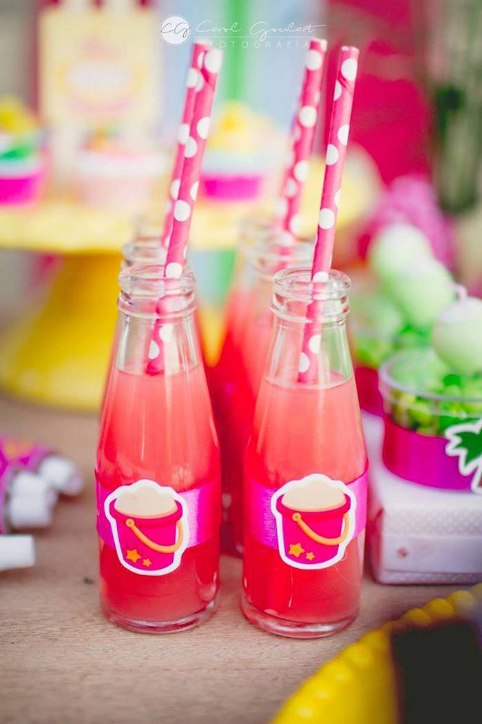 Drinks from a Tropical Surf Themed Birthday Party via Kara's Party Ideas | KarasPartyIdeas.com (31)