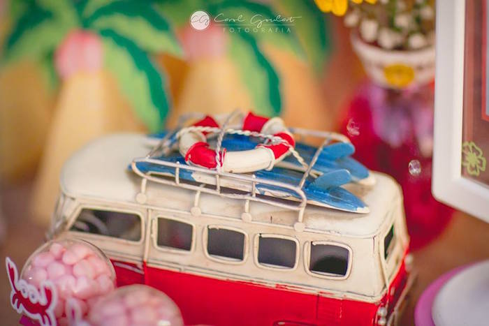 Decor from a Tropical Surf Themed Birthday Party via Kara's Party Ideas | KarasPartyIdeas.com (30)