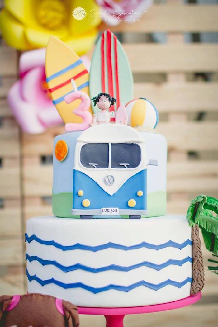 Cake from a Tropical Surf Themed Birthday Party via Kara's Party Ideas | KarasPartyIdeas.com (47)