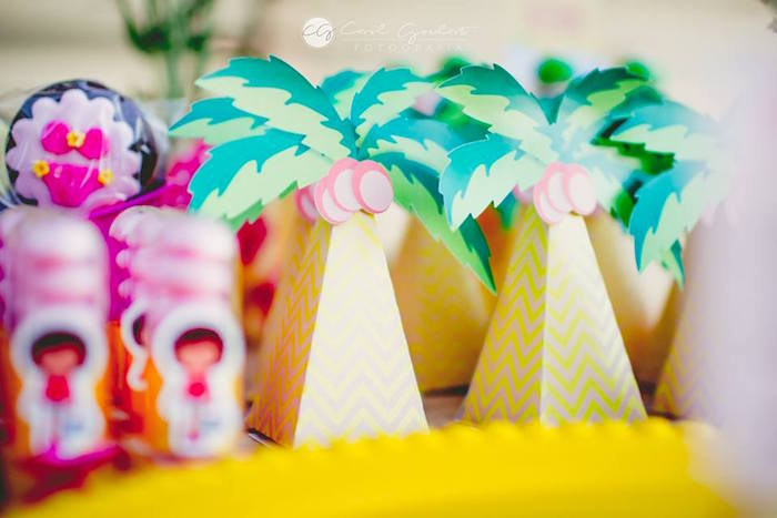 Palm Tree favors from a Tropical Surf Themed Birthday Party via Kara's Party Ideas | KarasPartyIdeas.com (22)