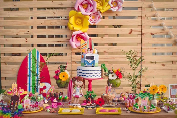 Tropical Surf Themed Birthday Party via Kara's Party Ideas | KarasPartyIdeas.com (15)
