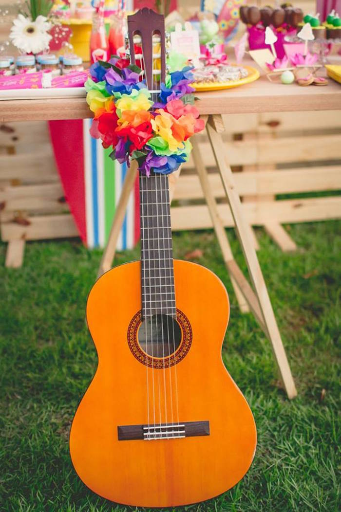 Guitar from a Tropical Surf Themed Birthday Party via Kara's Party Ideas | KarasPartyIdeas.com (14)