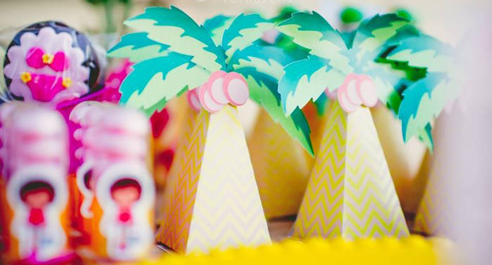 Palm Tree favor boxes from a Tropical Surf Themed Birthday Party via Kara's Party Ideas | KarasPartyIdeas.com (2)