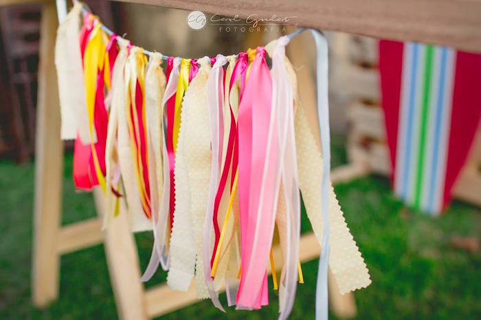Tassel garland from a Tropical Surf Themed Birthday Party via Kara's Party Ideas | KarasPartyIdeas.com (42)