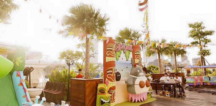 Partyscape from a Tropical Tiki Birthday Party via Kara's Party Ideas | KarasPartyIdeas.com (1)