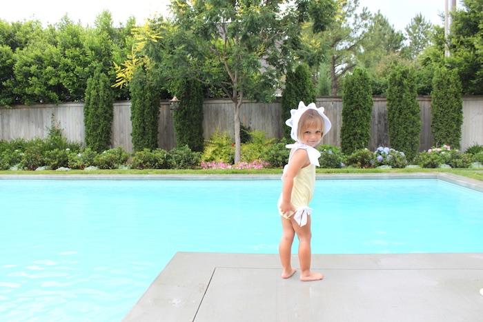 Birthday girl from an Under the Sea Birthday Pool Party via Kara's Party Ideas | KarasPartyIdeas.com (3)