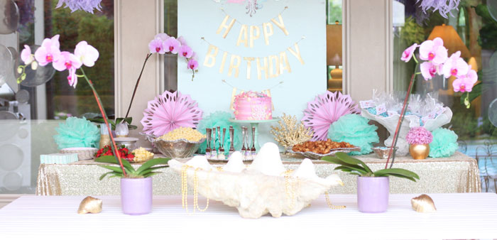 Under the Sea Birthday Pool Party via Kara's Party Ideas | KarasPartyIdeas.com (2)