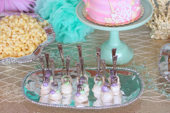Cake balls from an Under the Sea Birthday Pool Party via Kara's Party Ideas | KarasPartyIdeas.com (11)