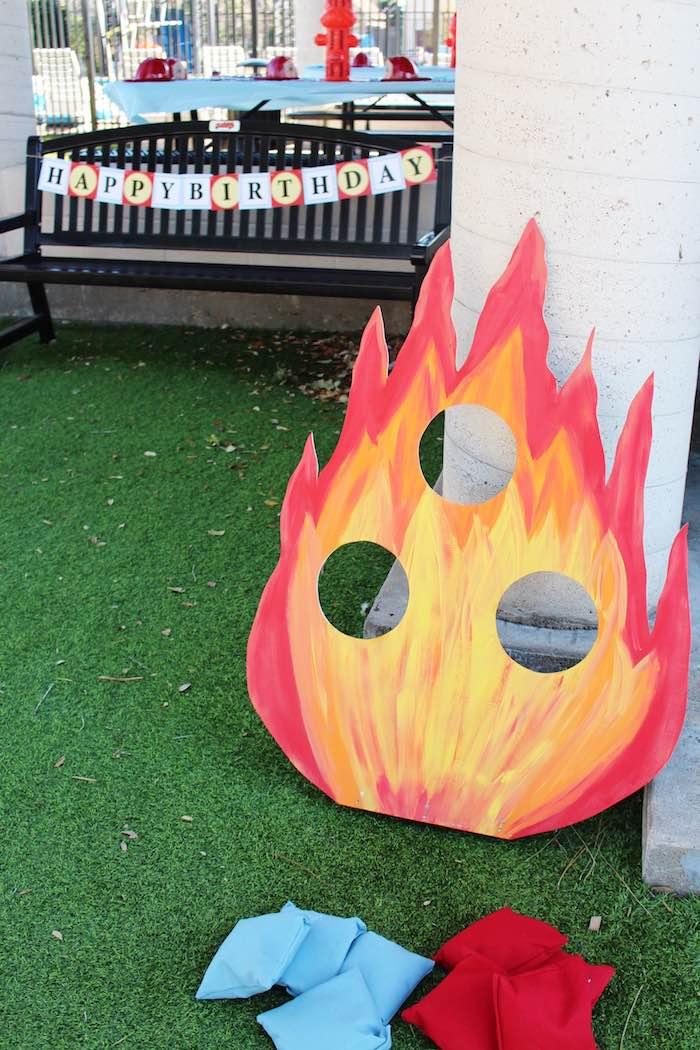 Kara S Party Ideas Vintage Fireman Themed Birthday Party