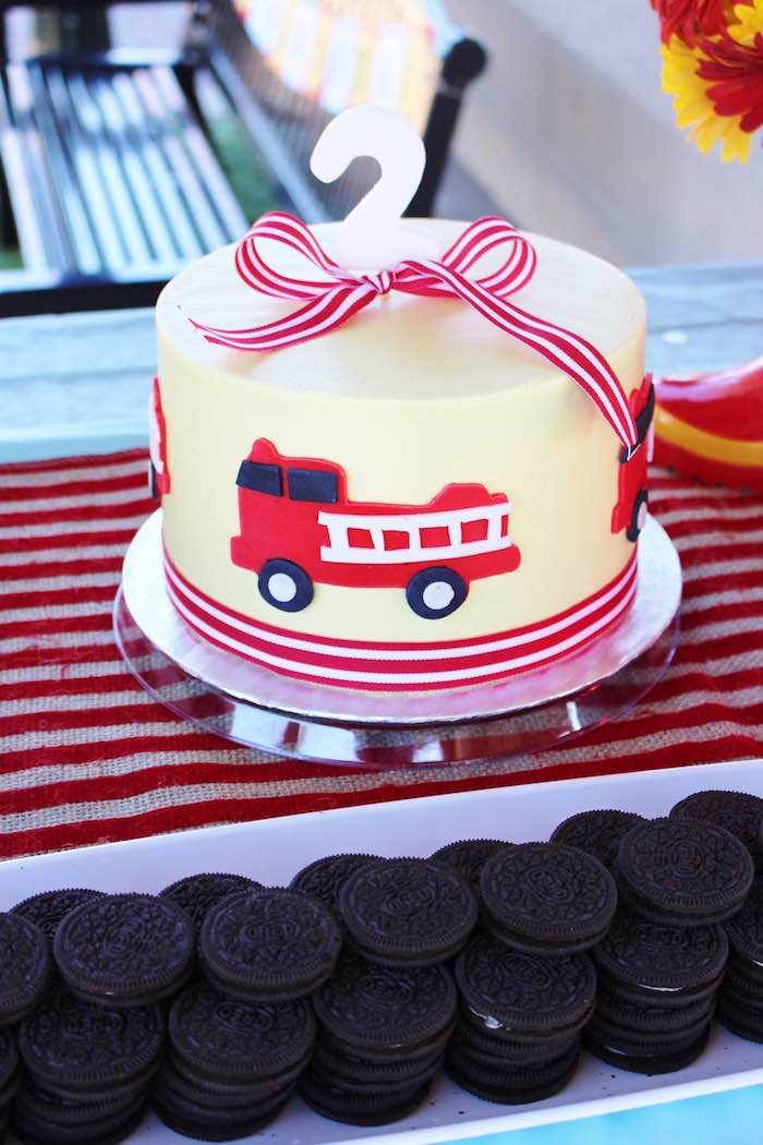 Karas Party Ideas Vintage Fireman Themed Birthday Party Karas