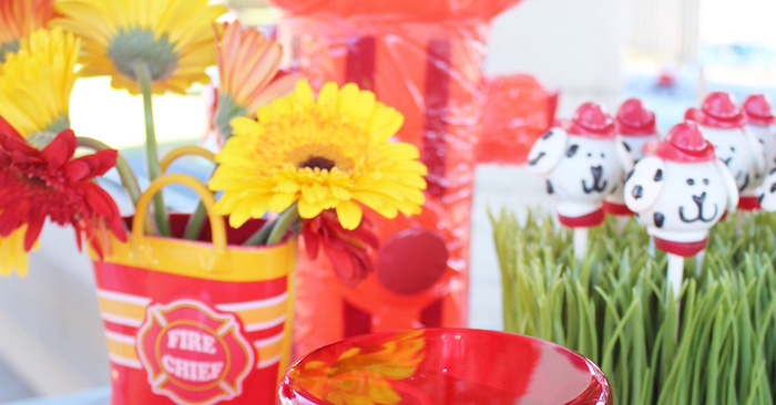 Vintage Fireman Themed Birthday Party via Kara's Party Ideas KarasPartyIdeas.com (1)