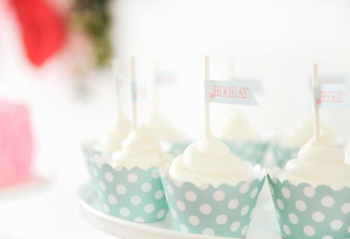 Cupcakes from a Vintage Floral Woodland Birthday Party via Kara's Party Ideas KarasPartyIdeas.com (9)
