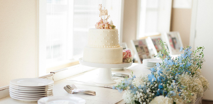 Cake Table From A Vintage Garden 90th Birthday Party Via Karas Ideas KarasPartyIdeas
