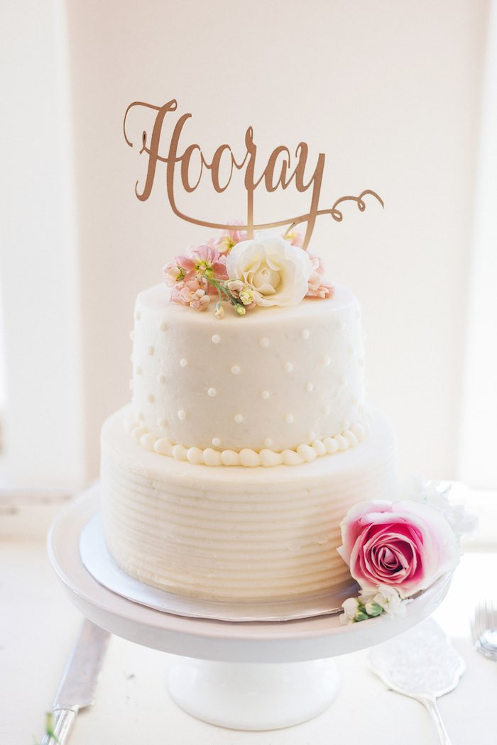 Stunning Cake From A Vintage Garden 90th Birthday Party Via Karas Ideas KarasPartyIdeas