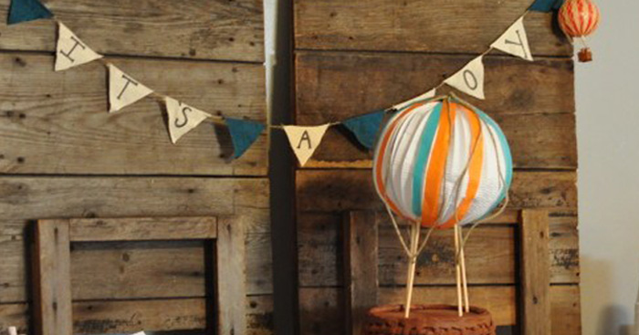 Vintage Hot Air Balloon Baby Shower via Kara's Party Ideas | KarasPartyIdeas.com (3)