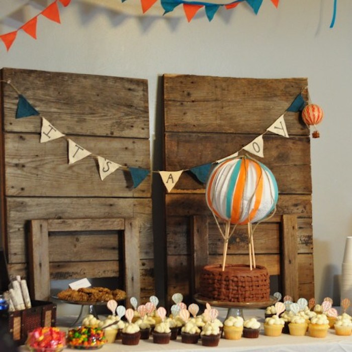 Karas Party Ideas Vintage Hot Air Balloon Baby Shower Karas