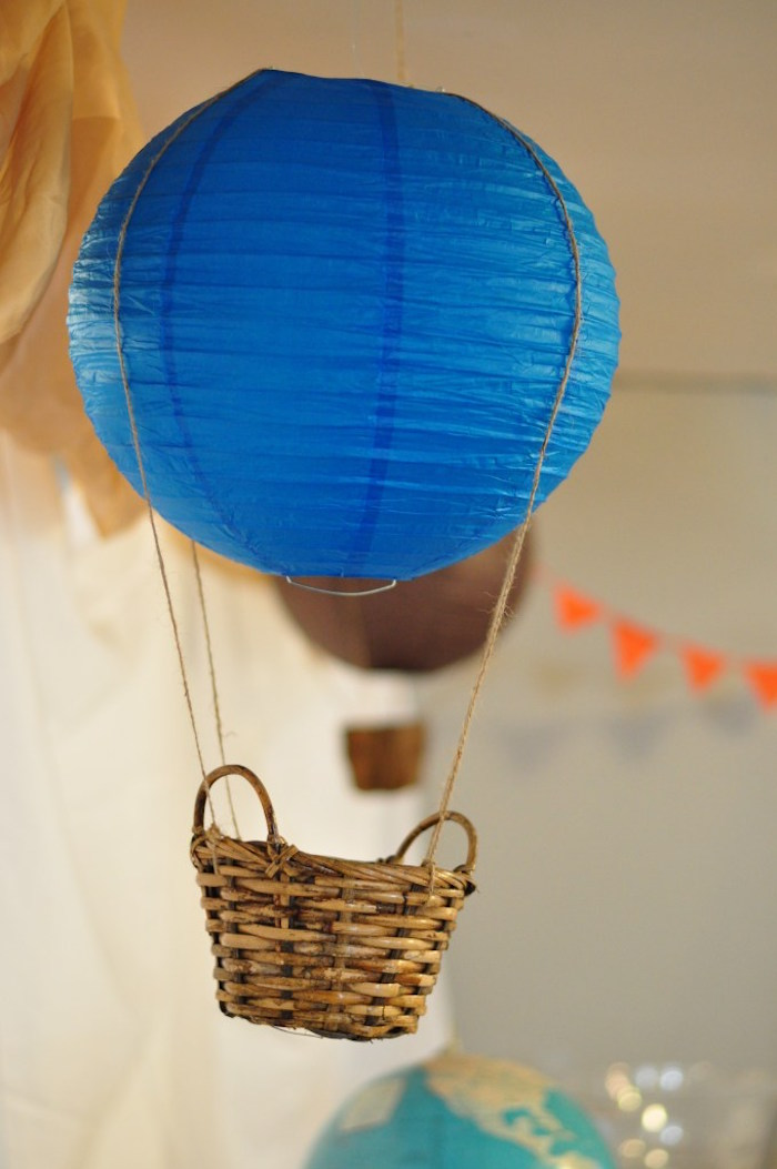 Karas Party Ideas Vintage Hot Air Balloon Baby Shower