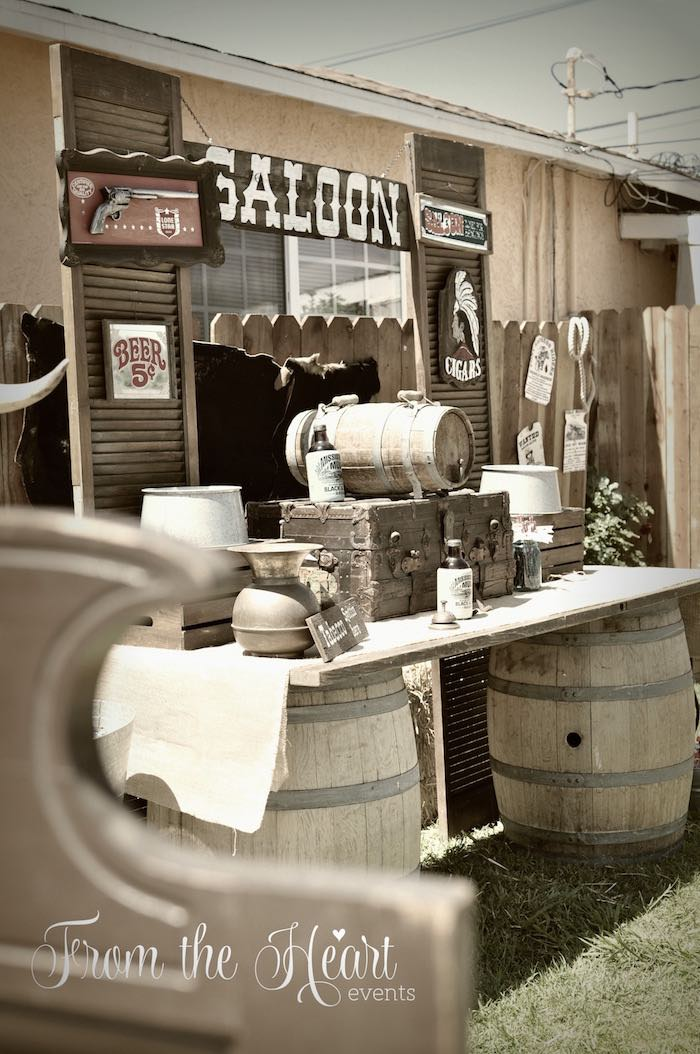 Saloon from a Wild West Cowboy Party via Kara's Party Ideas | KarasPartyIdeas.com - The Place for All Things Party! (41)