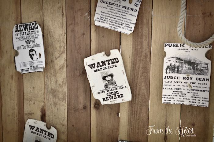 Wanted board from a Wild West Cowboy Party via Kara's Party Ideas | KarasPartyIdeas.com - The Place for All Things Party! (31)