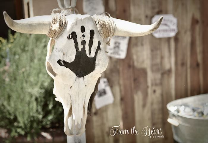 Animal skull decoration from a Wild West Cowboy Party via Kara's Party Ideas | KarasPartyIdeas.com - The Place for All Things Party! (30)