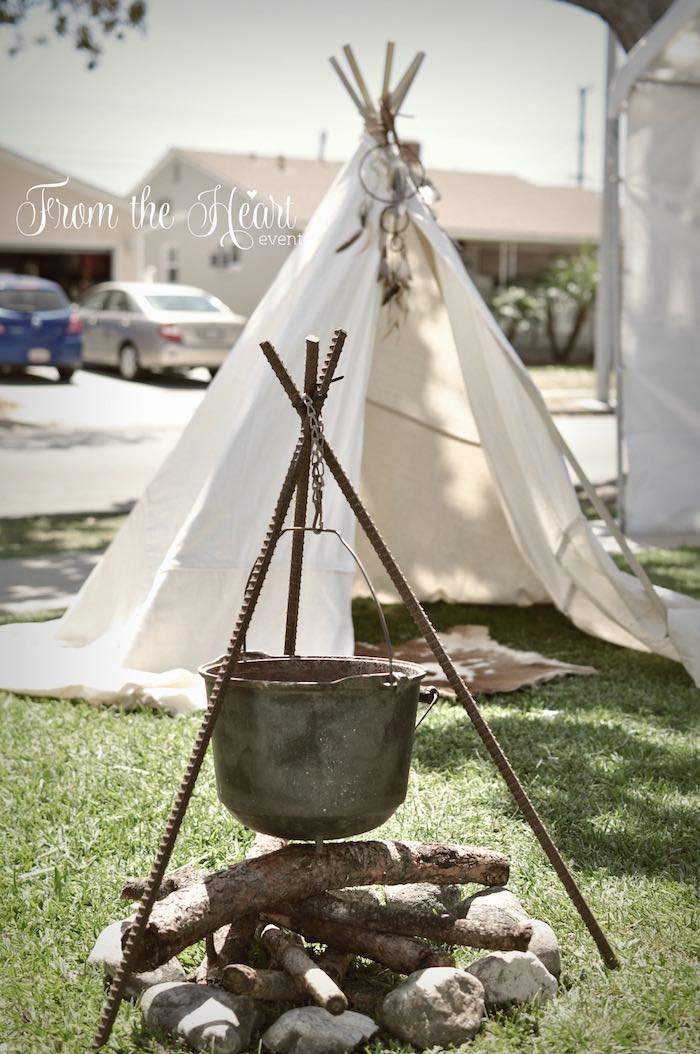Campsite play area from a Wild West Cowboy Party via Kara's Party Ideas | KarasPartyIdeas.com - The Place for All Things Party! (28)