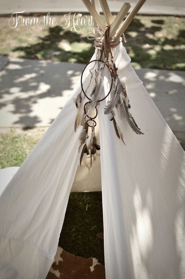 Teepee bunting from a Wild West Cowboy Party via Kara's Party Ideas | KarasPartyIdeas.com - The Place for All Things Party! (26)