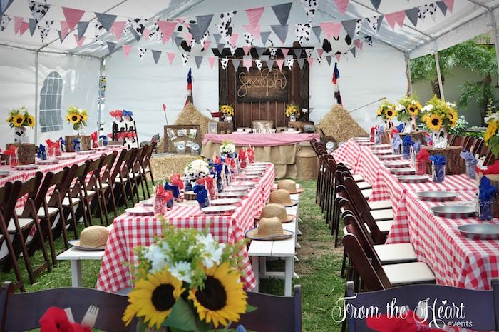 Partyscape from a Wild West Cowboy Party via Kara's Party Ideas | KarasPartyIdeas.com - The Place for All Things Party! (16)