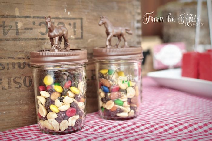 Trail mix jars from a Wild West Cowboy Party via Kara's Party Ideas | KarasPartyIdeas.com - The Place for All Things Party! (13)