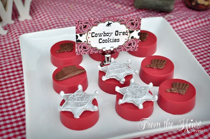 Cowboy Oreos from a Wild West Cowboy Party via Kara's Party Ideas | KarasPartyIdeas.com - The Place for All Things Party! (11)