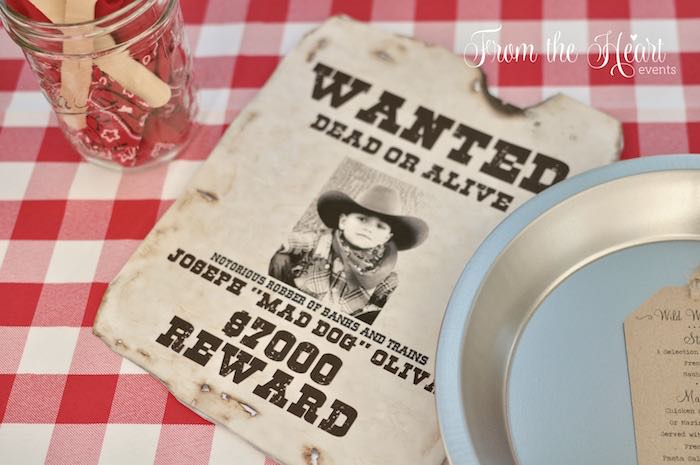 Wanted poster from a Wild West Cowboy Party via Kara's Party Ideas | KarasPartyIdeas.com - The Place for All Things Party! (44)