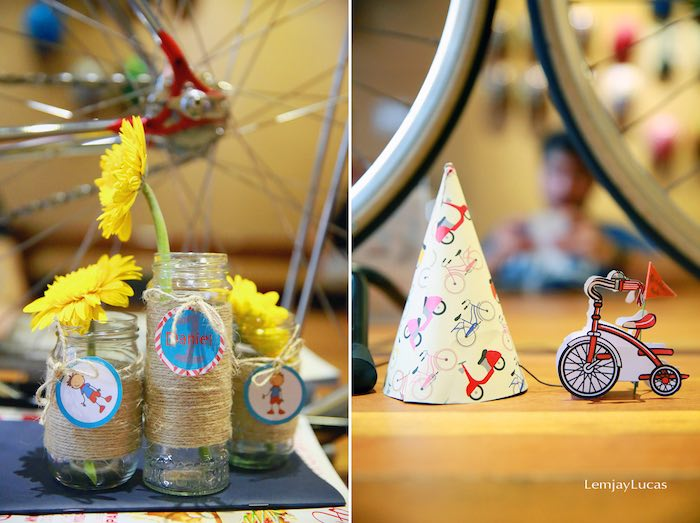 Karas Party Ideas Vintage Bicycle Tricycle Themed 1st Birthday