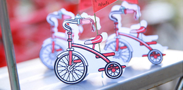 Vintage Bicycle + Tricycle Themed 1st Birthday Party via Kara's Party Ideas | KarasPartyIdeas.com (1)