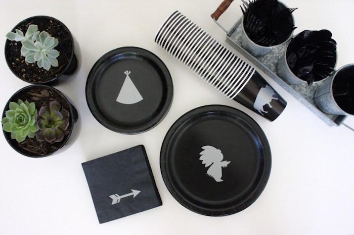 Tribal partyware from a 1st Birthday Pow Wow via Kara's Party Ideas | KarasPartyIdeas.com (7)