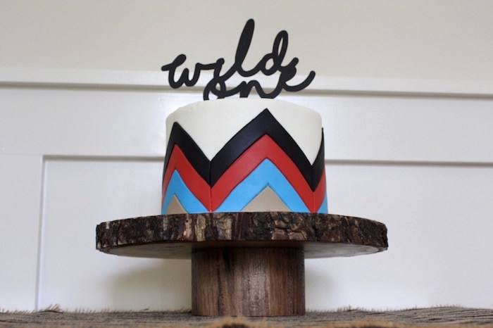 Tribal cake from a 1st Birthday Pow Wow via Kara's Party Ideas | KarasPartyIdeas.com (20)