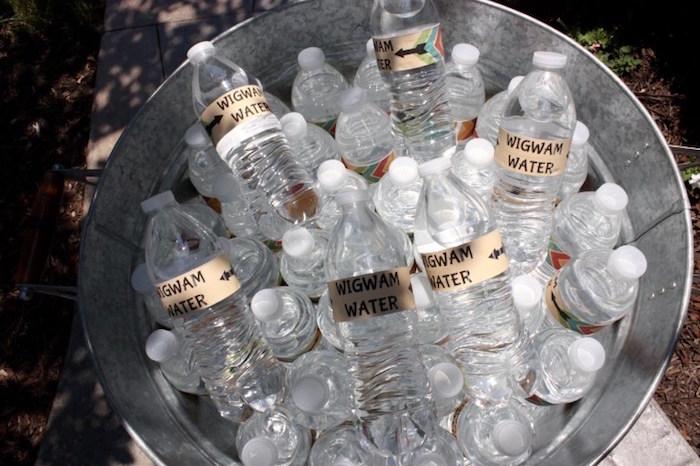 Wigwam Water from a 1st Birthday Pow Wow via Kara's Party Ideas | KarasPartyIdeas.com (18)