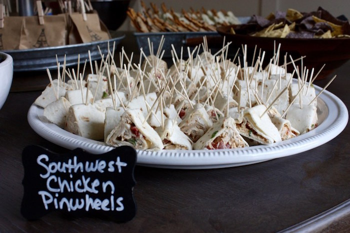 Teepee chicken pinwheels from a 1st Birthday Pow Wow via Kara's Party Ideas | KarasPartyIdeas.com (15)