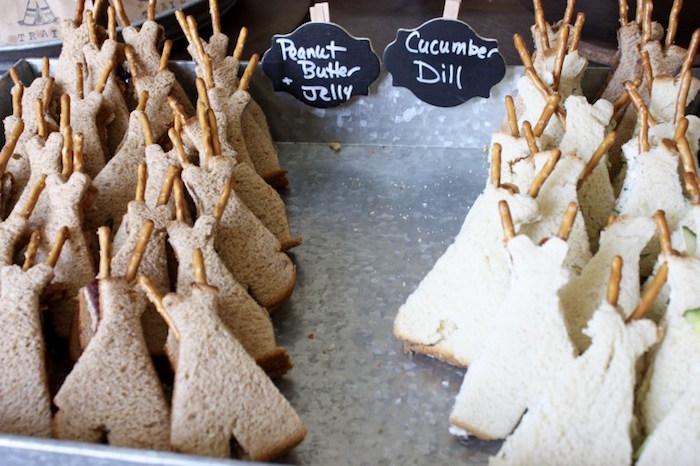 Teepee sandwiches from a 1st Birthday Pow Wow via Kara's Party Ideas | KarasPartyIdeas.com (14)
