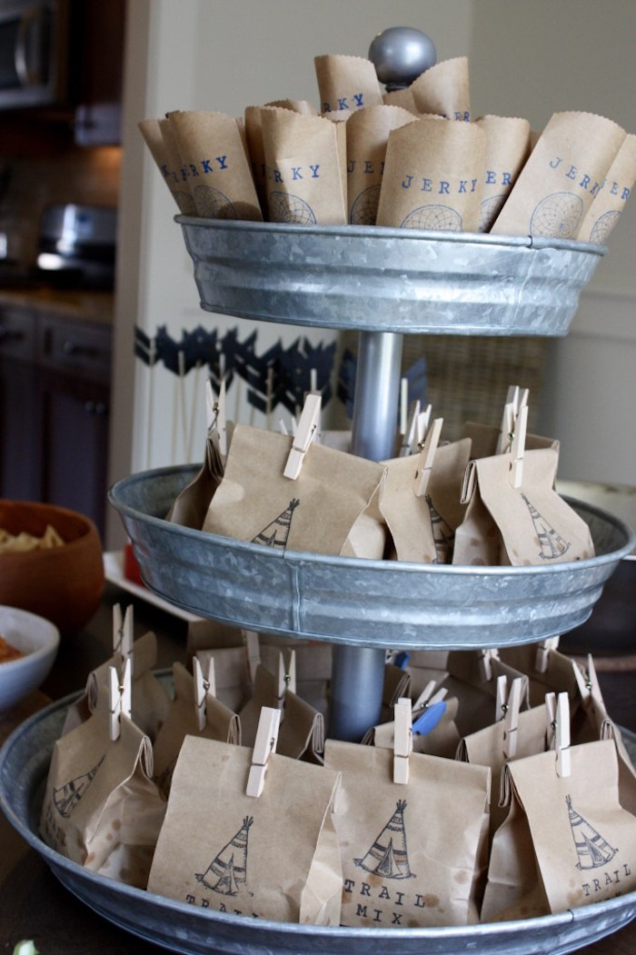 Snack sacks from a 1st Birthday Pow Wow via Kara's Party Ideas | KarasPartyIdeas.com (13)