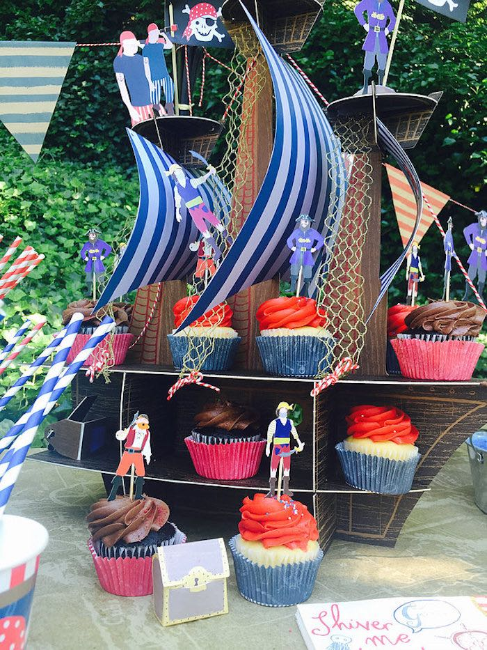 Kara 39 s party ideas a pirate 39 s life outdoor pool party for Garden pool party 2015