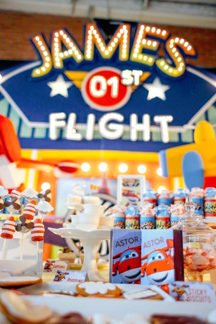 Party details from an Airplane Themed Birthday Party via Kara's Party Ideas   KarasPartyIdeas.com (14)