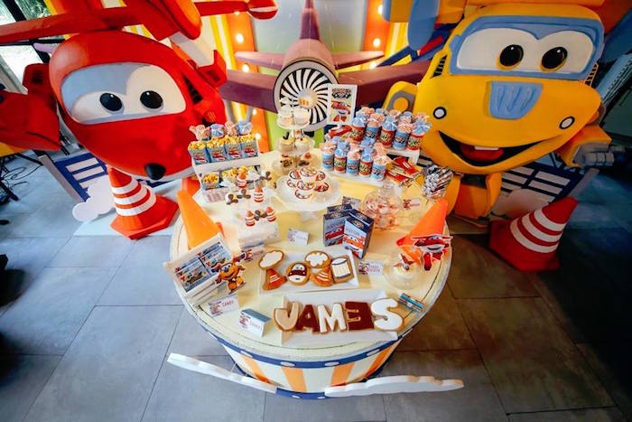 Dessert tabletop from an Airplane Themed Birthday Party via Kara's Party Ideas | KarasPartyIdeas.com (12)