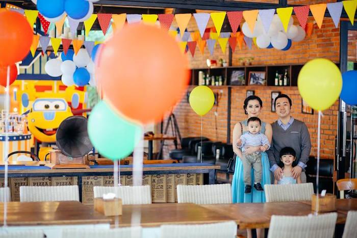 Partyscape from an Airplane Themed Birthday Party via Kara's Party Ideas   KarasPartyIdeas.com (11)