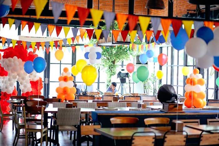 Karas Party Ideas Colorful Airplane Themed Birthday Party Karas