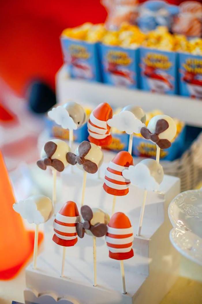 Cake pops from an Airplane Themed Birthday Party via Kara's Party Ideas   KarasPartyIdeas.com (6)