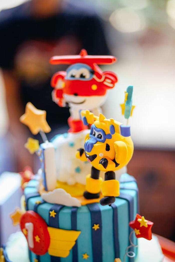Cake from an Airplane Themed Birthday Party via Kara's Party Ideas | KarasPartyIdeas.com (3)