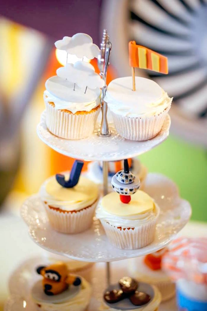 Aerial cupcakes from an Airplane Themed Birthday Party via Kara's Party Ideas | KarasPartyIdeas.com (20)